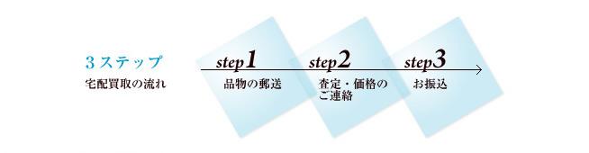 宅配買取り簡単3ステップ